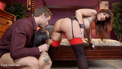 Photo number 31 from Facts of Desire: Petite 19 Year Old Trained by Anal Slut Step-Mom & Sadistic Butler shot for  on Kink.com. Featuring Xander Corvus, Holly Hendrix and Syren de Mer in hardcore BDSM & Fetish porn.