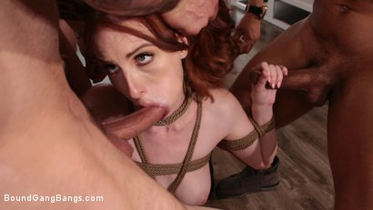 Photo number 8 from Alex Harper Bound and Gangbanged by 5 Horny Homebuyers shot for Bound Gang Bangs on Kink.com. Featuring Alex Harper, Donny Sins, Mr. Pete, Cyrus King , Codey Steele  and Eddie Jaye in hardcore BDSM & Fetish porn.