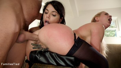 Photo number 34 from 19 year Old Slut Teaches Anal Fiance How to Serve Daddy shot for  on Kink.com. Featuring Ramon Nomar, Cherie DeVille and Gina Valentina in hardcore BDSM & Fetish porn.