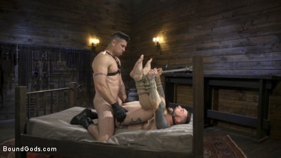 Photo number 15 from Ripped God Teddy Bryce Fucked and Beaten in Rope Bondage by Hot Stud! shot for Bound Gods on Kink.com. Featuring Trenton Ducati and Teddy Bryce in hardcore BDSM & Fetish porn.