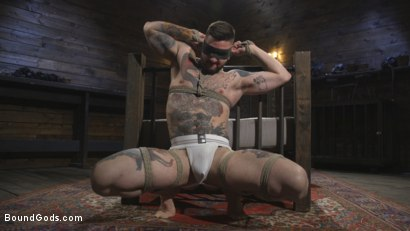 Photo number 1 from Ripped God Teddy Bryce Fucked and Beaten in Rope Bondage by Hot Stud! shot for Bound Gods on Kink.com. Featuring Trenton Ducati and Teddy Bryce in hardcore BDSM & Fetish porn.