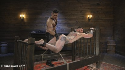 Photo number 11 from Ripped God Teddy Bryce Fucked and Beaten in Rope Bondage by Hot Stud! shot for Bound Gods on Kink.com. Featuring Trenton Ducati and Teddy Bryce in hardcore BDSM & Fetish porn.