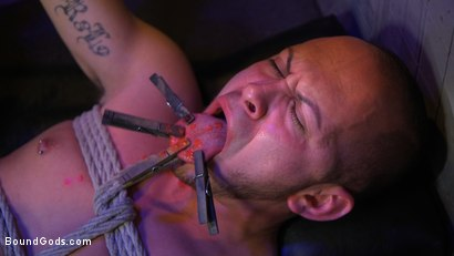 Photo number 2 from Alley Cat Slut: New boy Brodie Ramirez gets tormented & fucked  shot for Bound Gods on Kink.com. Featuring Brodie Ramirez and Dominic Pacifico in hardcore BDSM & Fetish porn.