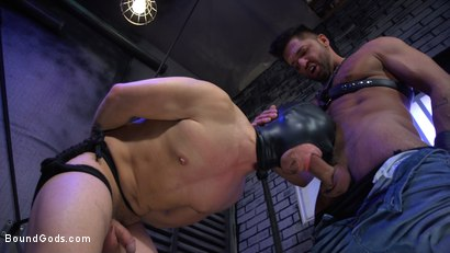 Photo number 3 from Alley Cat Slut: New boy Brodie Ramirez gets tormented & fucked  shot for Bound Gods on Kink.com. Featuring Brodie Ramirez and Dominic Pacifico in hardcore BDSM & Fetish porn.