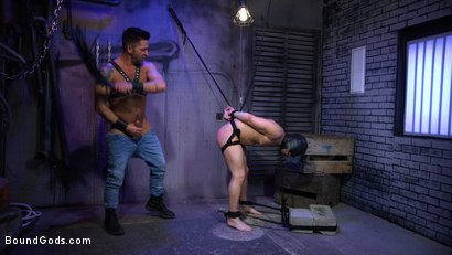 Photo number 10 from Alley Cat Slut: New boy Brodie Ramirez gets tormented & fucked  shot for Bound Gods on Kink.com. Featuring Brodie Ramirez and Dominic Pacifico in hardcore BDSM & Fetish porn.