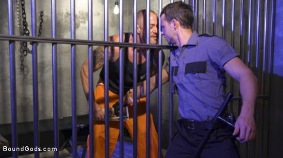 Photo number 1 from Inmate D.Arclyte Captures Correctional Officer, Nate Grimes shot for Bound Gods on Kink.com. Featuring D. Arclyte and Nate Grimes in hardcore BDSM & Fetish porn.