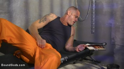 Photo number 2 from Inmate D.Arclyte Captures Correctional Officer, Nate Grimes shot for Bound Gods on Kink.com. Featuring D. Arclyte and Nate Grimes in hardcore BDSM & Fetish porn.