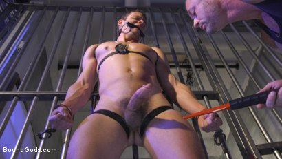 Photo number 9 from Inmate D.Arclyte Captures Correctional Officer, Nate Grimes shot for Bound Gods on Kink.com. Featuring D. Arclyte and Nate Grimes in hardcore BDSM & Fetish porn.
