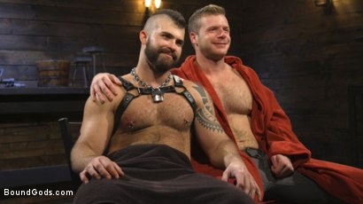 Photo number 34 from Puppy Play, Kennel Training shot for Bound Gods on Kink.com. Featuring Jonah Fontana and Brian Bonds in hardcore BDSM & Fetish porn.