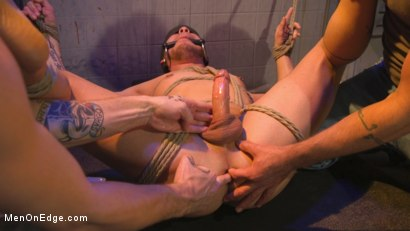 Photo number 25 from Brodie Ramirez Gets Edged in the Alley shot for Men On Edge on Kink.com. Featuring Brodie Ramirez in hardcore BDSM & Fetish porn.