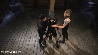 Photo number 1 from Monster Cocked Noob Blindfolded, Gagged, and Edged Til He Blows shot for Men On Edge on Kink.com. Featuring Matt Anthony in hardcore BDSM & Fetish porn.