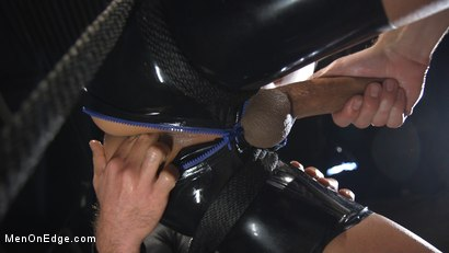 Photo number 13 from Monster Cocked Noob Blindfolded, Gagged, and Edged Til He Blows shot for Men On Edge on Kink.com. Featuring Matt Anthony in hardcore BDSM & Fetish porn.