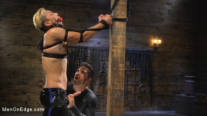 Photo number 18 from Monster Cocked Noob Blindfolded, Gagged, and Edged Til He Blows shot for Men On Edge on Kink.com. Featuring Matt Anthony in hardcore BDSM & Fetish porn.