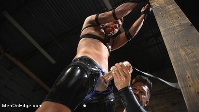 Photo number 19 from Monster Cocked Noob Blindfolded, Gagged, and Edged Til He Blows shot for Men On Edge on Kink.com. Featuring Matt Anthony in hardcore BDSM & Fetish porn.