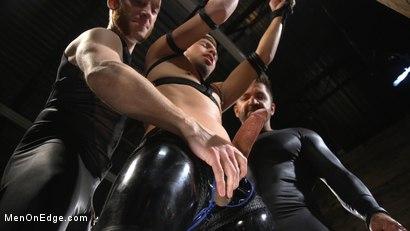 Monster Cocked Noob Blindfolded, Gagged, and Edged Til He Blows