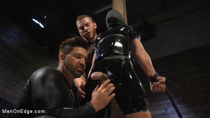 Photo number 3 from Monster Cocked Noob Blindfolded, Gagged, and Edged Til He Blows shot for Men On Edge on Kink.com. Featuring Matt Anthony in hardcore BDSM & Fetish porn.
