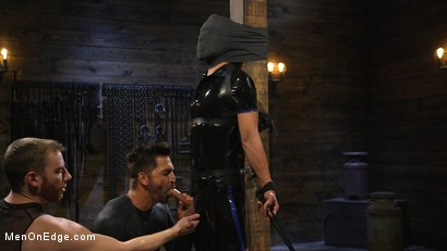 Photo number 4 from Monster Cocked Noob Blindfolded, Gagged, and Edged Til He Blows shot for Men On Edge on Kink.com. Featuring Matt Anthony in hardcore BDSM & Fetish porn.