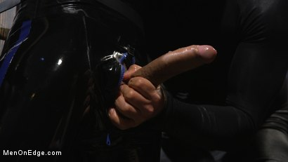Photo number 7 from Monster Cocked Noob Blindfolded, Gagged, and Edged Til He Blows shot for Men On Edge on Kink.com. Featuring Matt Anthony in hardcore BDSM & Fetish porn.