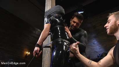 Photo number 8 from Monster Cocked Noob Blindfolded, Gagged, and Edged Til He Blows shot for Men On Edge on Kink.com. Featuring Matt Anthony in hardcore BDSM & Fetish porn.