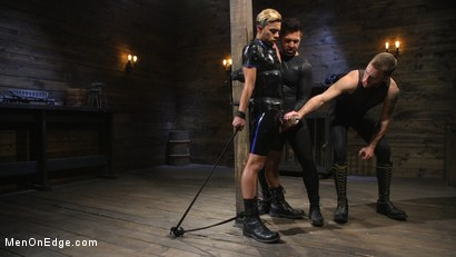 Photo number 10 from Monster Cocked Noob Blindfolded, Gagged, and Edged Til He Blows shot for Men On Edge on Kink.com. Featuring Matt Anthony in hardcore BDSM & Fetish porn.
