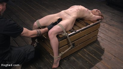 Photo number 13 from Red Headed Rope Slut Gets Brutalized and Made to Cum shot for Hogtied on Kink.com. Featuring The Pope and Alexa Nova in hardcore BDSM & Fetish porn.