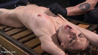 Photo number 14 from Red Headed Rope Slut Gets Brutalized and Made to Cum shot for Hogtied on Kink.com. Featuring The Pope and Alexa Nova in hardcore BDSM & Fetish porn.