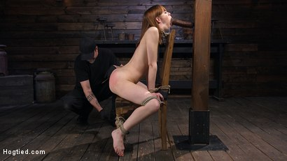 Photo number 2 from Red Headed Rope Slut Gets Brutalized and Made to Cum shot for Hogtied on Kink.com. Featuring The Pope and Alexa Nova in hardcore BDSM & Fetish porn.