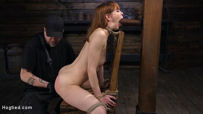 Photo number 1 from Red Headed Rope Slut Gets Brutalized and Made to Cum shot for Hogtied on Kink.com. Featuring The Pope and Alexa Nova in hardcore BDSM & Fetish porn.