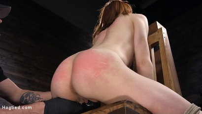 Photo number 4 from Red Headed Rope Slut Gets Brutalized and Made to Cum shot for Hogtied on Kink.com. Featuring The Pope and Alexa Nova in hardcore BDSM & Fetish porn.