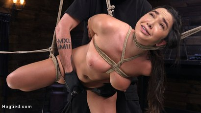 Submissive Big Tits in Brutal Bondage and Suffering