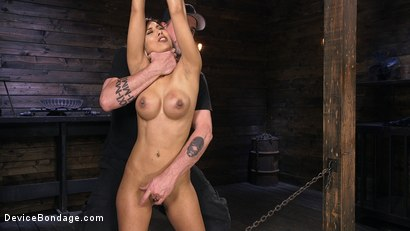 Photo number 4 from Busty Latina Slut Is Tormented in Grueling Bondage shot for Device Bondage on Kink.com. Featuring The Pope and Demi Lopez in hardcore BDSM & Fetish porn.