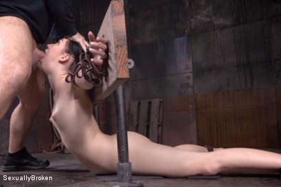 Photo number 8 from Petite brunette brutally fucked and deepthroated.  shot for Sexually Broken on Kink.com. Featuring Aria Alexander, Jack Hammer and Matt Williams in hardcore BDSM & Fetish porn.