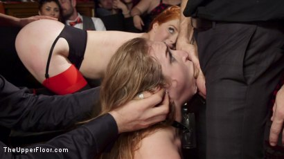 Photo number 12 from Squirting Slave Sluts Inspire A BDSM Halloween Orgy shot for The Upper Floor on Kink.com. Featuring Penny Pax, Skylar Snow , Michael Vegas and Mona Wales in hardcore BDSM & Fetish porn.