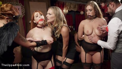 Photo number 1 from Squirting Slave Sluts Inspire A BDSM Halloween Orgy shot for The Upper Floor on Kink.com. Featuring Penny Pax, Skylar Snow , Michael Vegas and Mona Wales in hardcore BDSM & Fetish porn.