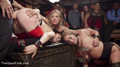Photo number 6 from Squirting Slave Sluts Inspire A BDSM Halloween Orgy shot for The Upper Floor on Kink.com. Featuring Penny Pax, Skylar Snow , Michael Vegas and Mona Wales in hardcore BDSM & Fetish porn.