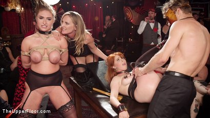 Photo number 13 from Busty Red-Headed Squirting Anal Whores Made to Serve Mona Wales shot for The Upper Floor on Kink.com. Featuring Penny Pax, Skylar Snow , Michael Vegas and Mona Wales in hardcore BDSM & Fetish porn.