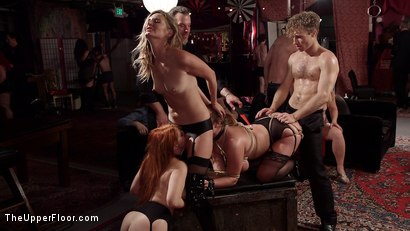 Photo number 17 from Busty Red-Headed Squirting Anal Whores Made to Serve Mona Wales shot for The Upper Floor on Kink.com. Featuring Penny Pax, Skylar Snow , Michael Vegas and Mona Wales in hardcore BDSM & Fetish porn.
