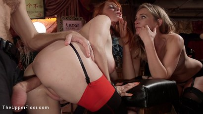 Photo number 5 from Busty Red-Headed Squirting Anal Whores Made to Serve Mona Wales shot for The Upper Floor on Kink.com. Featuring Penny Pax, Skylar Snow , Michael Vegas and Mona Wales in hardcore BDSM & Fetish porn.