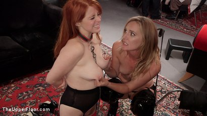Photo number 7 from Busty Red-Headed Squirting Anal Whores Made to Serve Mona Wales shot for The Upper Floor on Kink.com. Featuring Penny Pax, Skylar Snow , Michael Vegas and Mona Wales in hardcore BDSM & Fetish porn.