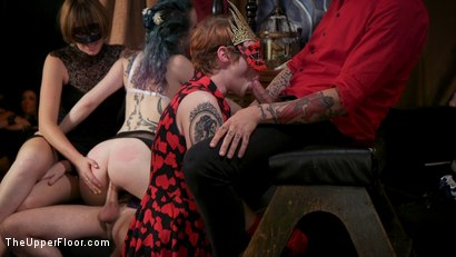 Photo number 9 from Busty Red-Headed Squirting Anal Whores Made to Serve Mona Wales shot for The Upper Floor on Kink.com. Featuring Penny Pax, Skylar Snow , Michael Vegas and Mona Wales in hardcore BDSM & Fetish porn.