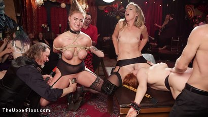 Photo number 14 from Busty Red-Headed Squirting Anal Whores Made to Serve Mona Wales shot for The Upper Floor on Kink.com. Featuring Penny Pax, Skylar Snow , Michael Vegas and Mona Wales in hardcore BDSM & Fetish porn.