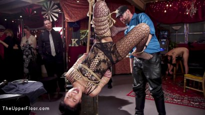 Photo number 15 from Masochistic Anal Sluts Stuffed With Cock at Holiday Ball shot for The Upper Floor on Kink.com. Featuring Aiden Starr, Owen Gray, Maya Kendrick and Nikki Darling in hardcore BDSM & Fetish porn.