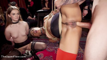 Photo number 1 from Masochistic Anal Sluts Love It All at the BDSM Ball shot for The Upper Floor on Kink.com. Featuring Aiden Starr, Owen Gray, Maya Kendrick and Nikki Darling in hardcore BDSM & Fetish porn.