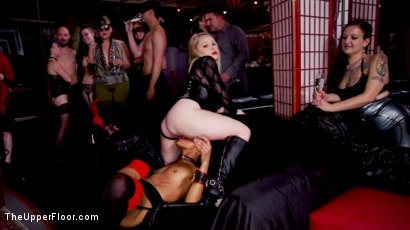 Photo number 10 from Masochistic Anal Sluts Love It All at the BDSM Ball shot for The Upper Floor on Kink.com. Featuring Aiden Starr, Owen Gray, Maya Kendrick and Nikki Darling in hardcore BDSM & Fetish porn.