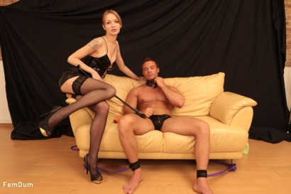 Photo number 1 from Fake Tits Dominatrix shot for FemDum on Kink.com. Featuring Lois and Peter Stallion in hardcore BDSM & Fetish porn.