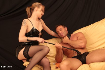Photo number 3 from Fake Tits Dominatrix shot for FemDum on Kink.com. Featuring Lois and Peter Stallion in hardcore BDSM & Fetish porn.