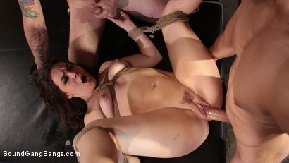 Photo number 13 from Kimber Woods Breaks Down And Gets Banged Up shot for Bound Gang Bangs on Kink.com. Featuring Kimber Woods, Eddie Jaye, Codey Steele , Mr. Pete and Donny Sins in hardcore BDSM & Fetish porn.