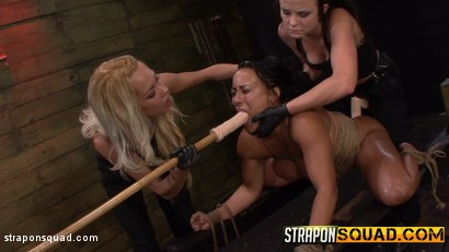 Photo number 9 from Hot Muscle MILF Becca Diamond's 1st Lesbian Domination shot for Strapon Squad on Kink.com. Featuring Becca Diamond, Brooklyn Daniels and Mila Blaze in hardcore BDSM & Fetish porn.