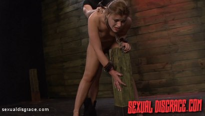 Photo number 15 from Kayleigh Nichole's First Slave Training Session Goes Well shot for Sexual Disgrace on Kink.com. Featuring Kayleigh Nichole and James Kickstand in hardcore BDSM & Fetish porn.