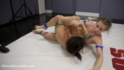 Photo number 22 from Petite Rookie Sarah Brooke vs Muscle Babe Cheyenne Jewel shot for Ultimate Surrender on Kink.com. Featuring Cheyenne Jewel and Sarah Brooke in hardcore BDSM & Fetish porn.